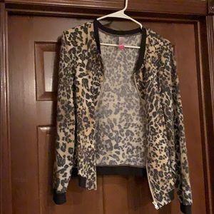 No boundaries cheetah bomber jacket